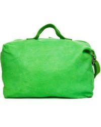 Guidi Green Leather Bag
