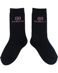 Balenciaga Черные Носки С Логотипом - Черный