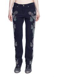 Golden Goose Deluxe Brand - Velvet Sequined Trousers - Lyst