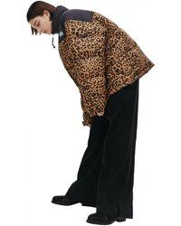 Vetements Леопардовый Стеганый Пуховик - Коричневый