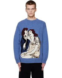 Enfants Riches Deprimes Boy Wipes Girl's Tears Sweater - Blue
