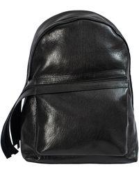 Yohji Yamamoto Textured Leather Backpack - Black