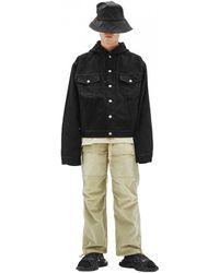 Balenciaga Джинсовая Куртка С Капюшоном - Черный