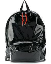 Maison Margiela Черный Лакированный Рюкзак