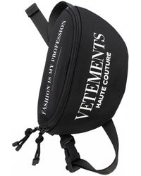 Vetements Fashion Is My Profession Logo Belt Bag - Black