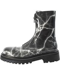 Vetements Leather Boots With Zipper - Black