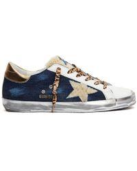 Golden Goose Deluxe Brand Кеды Superstar C Меховой Звездой - Синий
