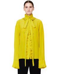 Haider Ackermann - Ruffled Silk Shirt - Lyst