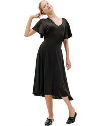 Vetements Черное Платье На Пуговицах - Черный