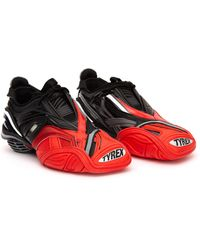 Balenciaga Серо-красные Кроссовки Tyrex - Красный