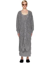 Y's Yohji Yamamoto Linen & Cotton Cardigan - Grey