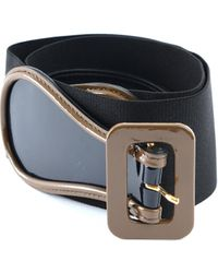 Marni Leather And Textile Belt - Black