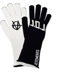 Vetements - Black & White L.o.l. Gloves - Lyst