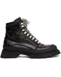 Jil Sander Черные Ботинки На Массивной Подошве - Черный