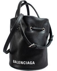 Balenciaga Кожаная Сумка-ведро Everyday Xs - Черный