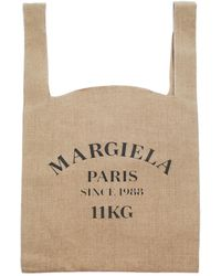 Maison Margiela Льняная Сумка С Принтом - Естественный