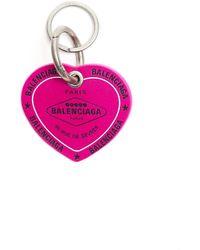 Balenciaga Кожаный Брелок Casino Heart - Розовый