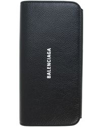 Balenciaga Кожаный Кошелек Cash С Логотипом - Черный