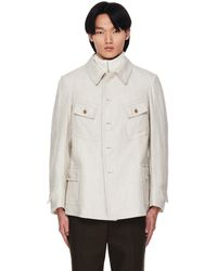 Maison Margiela - Льняная Куртка-рубашка С Карманами - Lyst