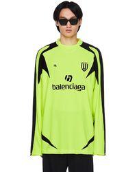 Balenciaga Футбольный Лонгслив С Логотипом - Зеленый