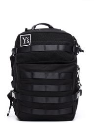 Y's Yohji Yamamoto | Textile And Leather Trimmed Backpack | Lyst