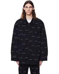 Fear Of God All Over Print Nylon Field Jacket - Black