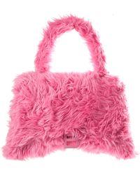 Balenciaga Розовая Сумка Hourglass Fluffy - Розовый