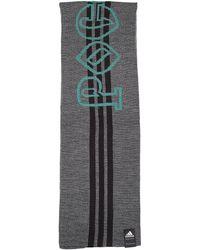 Gosha Rubchinskiy Grey & Black Adidas Scarf