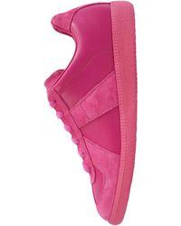 Maison Margiela Кожаные Кроссовки Replica - Розовый