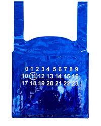 Maison Margiela Синяя Сумка-пакет С Принтом 11 Logo - Синий