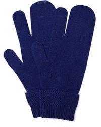 Maison Margiela Синие Перчатки Из Шерсти С Кашемиром - Синий