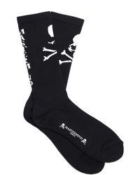 MASTERMIND WORLD Socks With Skulls - Black