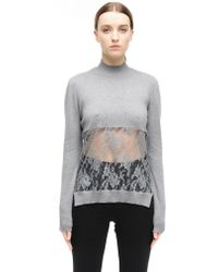 Undercover - Cotton And Cashmere Top - Lyst