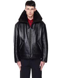Balenciaga Куртка Bombardier На Искусственном Меху - Черный
