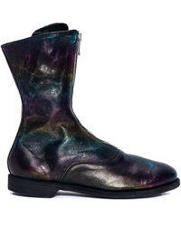 Guidi Кожаные Ботинки С Цветными Разводами - Синий