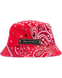 Children of the discordance Paisley Printed Bucket Hat - Red