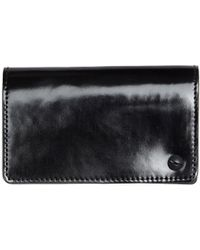 Yohji Yamamoto Yohji Yamamoto Polished Leather Card Holder - Black
