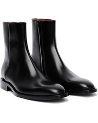 Balenciaga Leather Chrystal Boots - Black