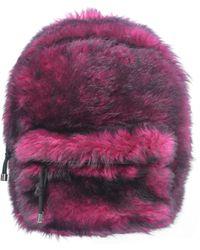 Vetements Черно-розовый Меховой Рюказак