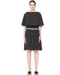 Undercover - Polka Dot Dress With Ruffles - Lyst