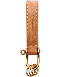 Hender Scheme Leather Keyring - Multicolour