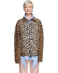 Balenciaga Джинсовая Куртка С Леопардовым Принтом - Естественный