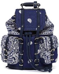READYMADE Vintage Cotton Paisley Backpack - Blue