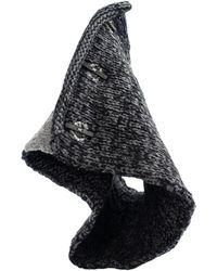 The Viridi-anne Черно-серый Шарф-снуд - Черный