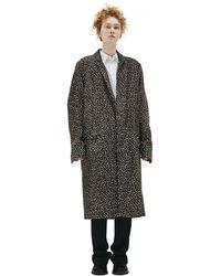 Haider Ackermann Pony Fur Coat - Brown