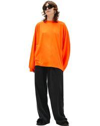 Balenciaga Лонгслив С Вышитым Логотипом - Оранжевый