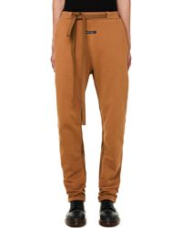 Fear Of God Relaxed Cotton Track Pants - Brown