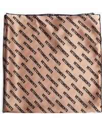 Vetements - Monogram-printed Silk Scarf - Lyst