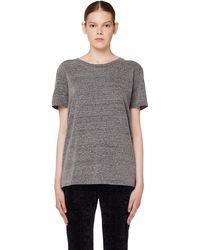 John Elliott Grey Cotton T-shirt