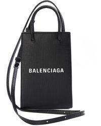 Balenciaga Черная Сумка Shopping Phone Holder - Черный